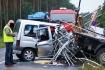 Zderzenie aut, pasażer nieprzytomny